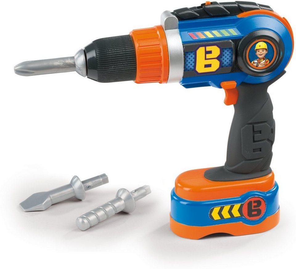 Smoby Spielakkuschrauber, »Bob der Baumeister elektronischer Akkuschrauber« in blau/orange