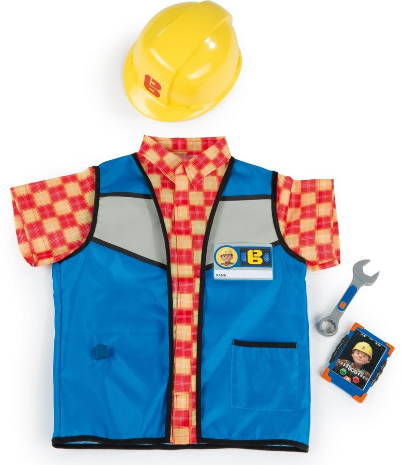 Smoby Kinderkostüm, »Bob der Baumeister Handwerkeroutfit« in blau/orange