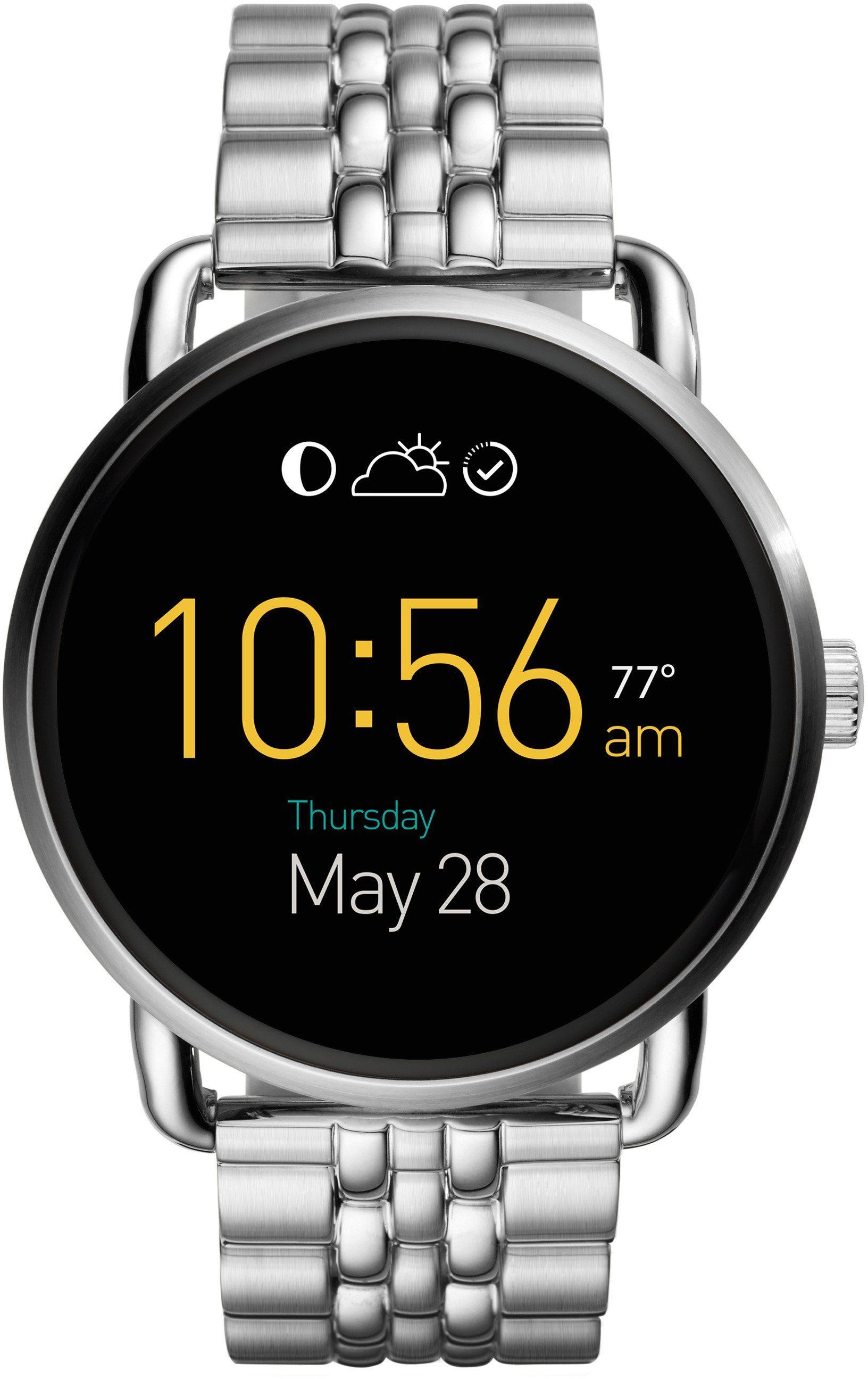 FOSSIL Q Q WANDER, FTW2111 Smartwatch (Android Wear, mit individuell einstellbarem Zifferblatt)