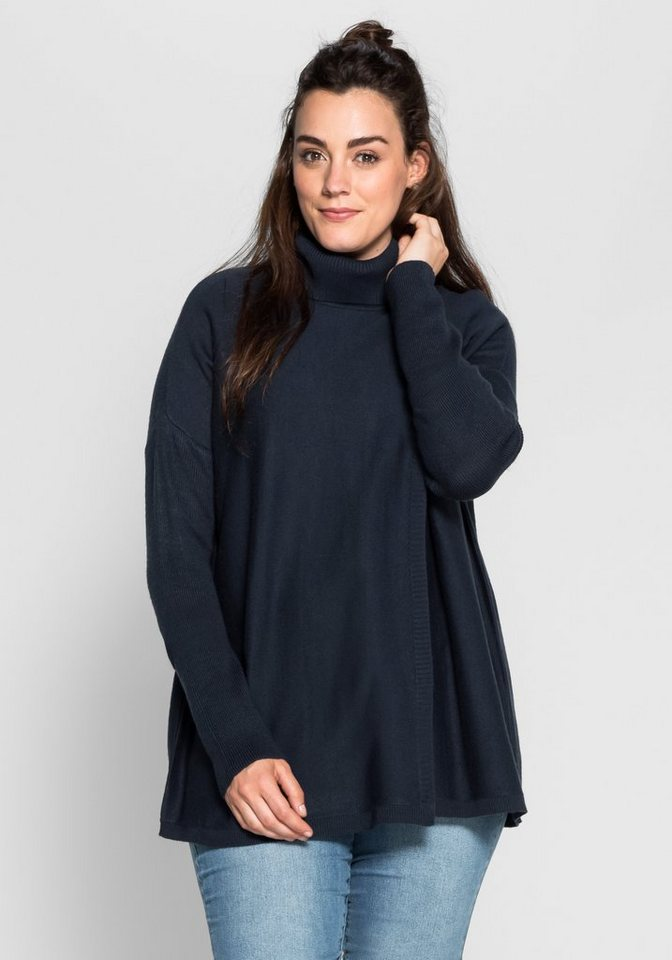 sheego Casual Pullover in leichter Oversize-Form in marine