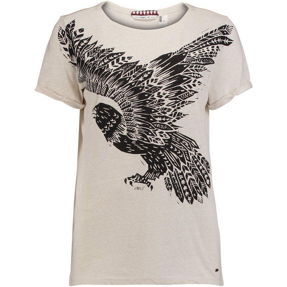 O'Neill T-Shirt kurzärmlig »Freedom« in Silberweiß