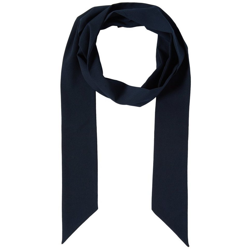 TOM TAILOR DENIM Schal »solid tie style scarf« in sky captain blue