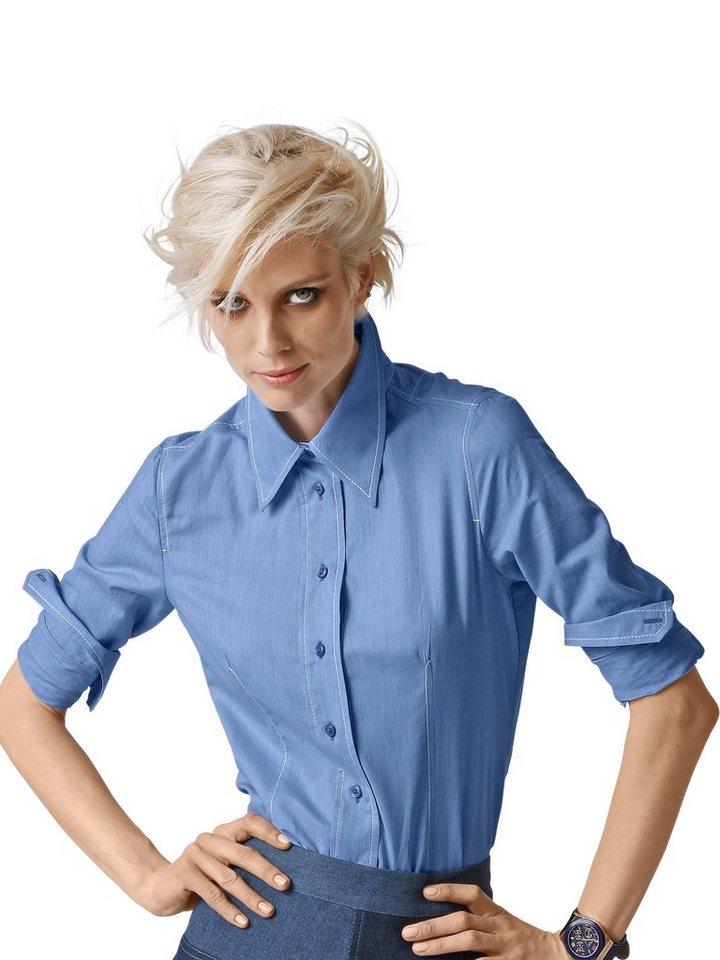 Alba Moda Hemdbluse in blau