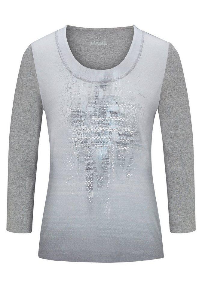 Rabe Langarmshirt mit Print und Farbverlauf in FLANELL