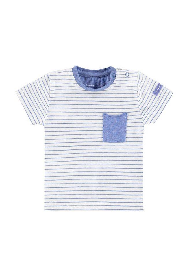 BELLYBUTTON T-Shirt für Babies mit Tasche, feiner Streifen in stripe/multicolored