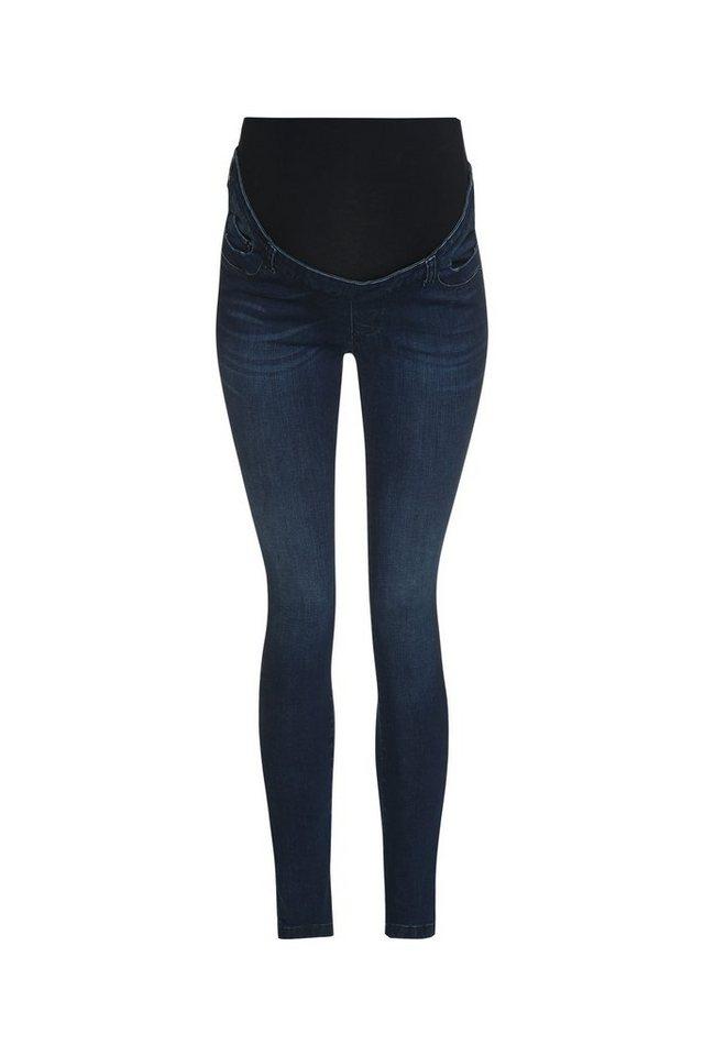 BELLYBUTTON Jeans Lea slim leg, overbelly in dark blue denim