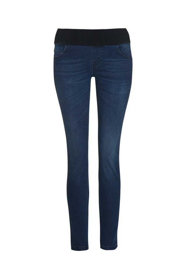 BELLYBUTTON Jeans straight, relax fit, mid belly in dark blue denim