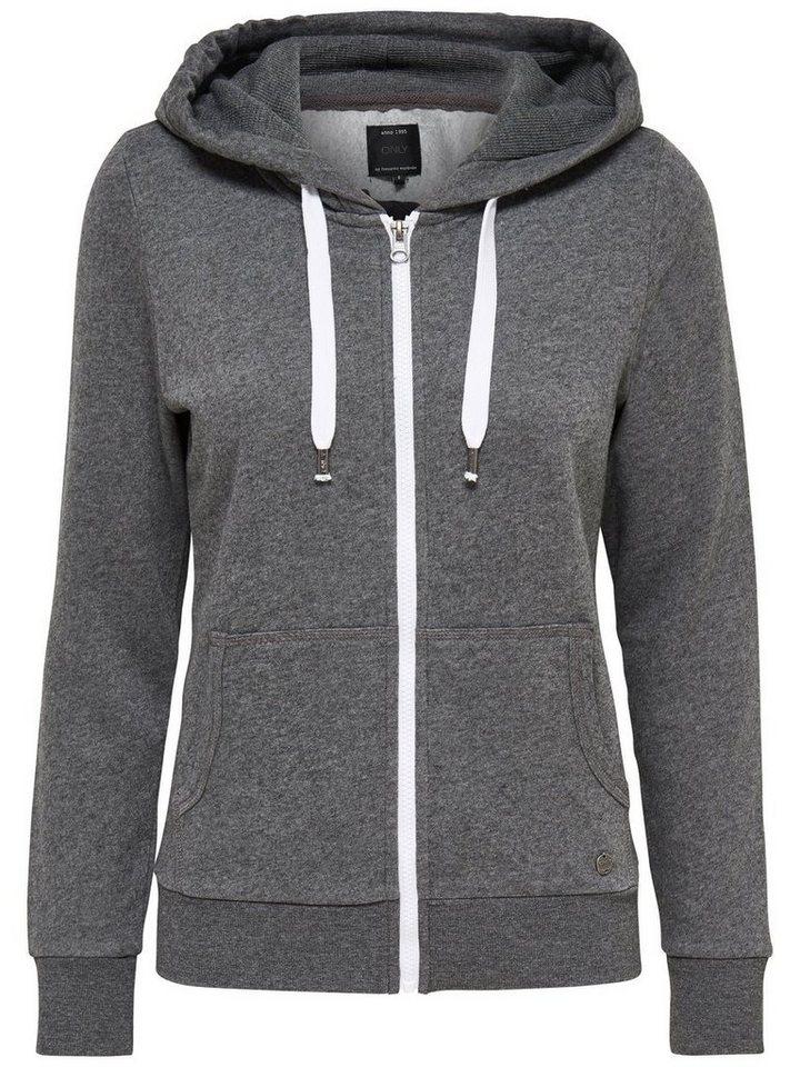 Only Oversize- Sweatshirt in Dark Grey Melange