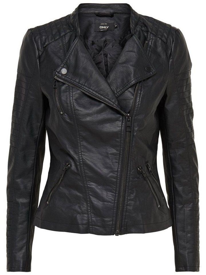 Only Faux leather Biker jackets in Black