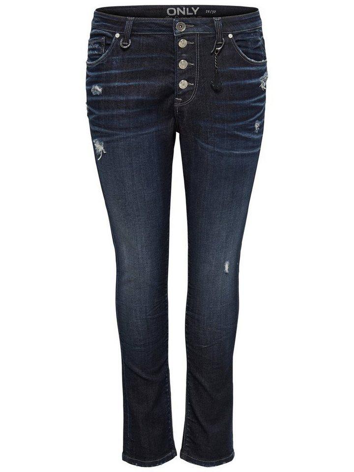 Only Tyler girlfriend Skinny Fit Jeans in Dark Blue Denim