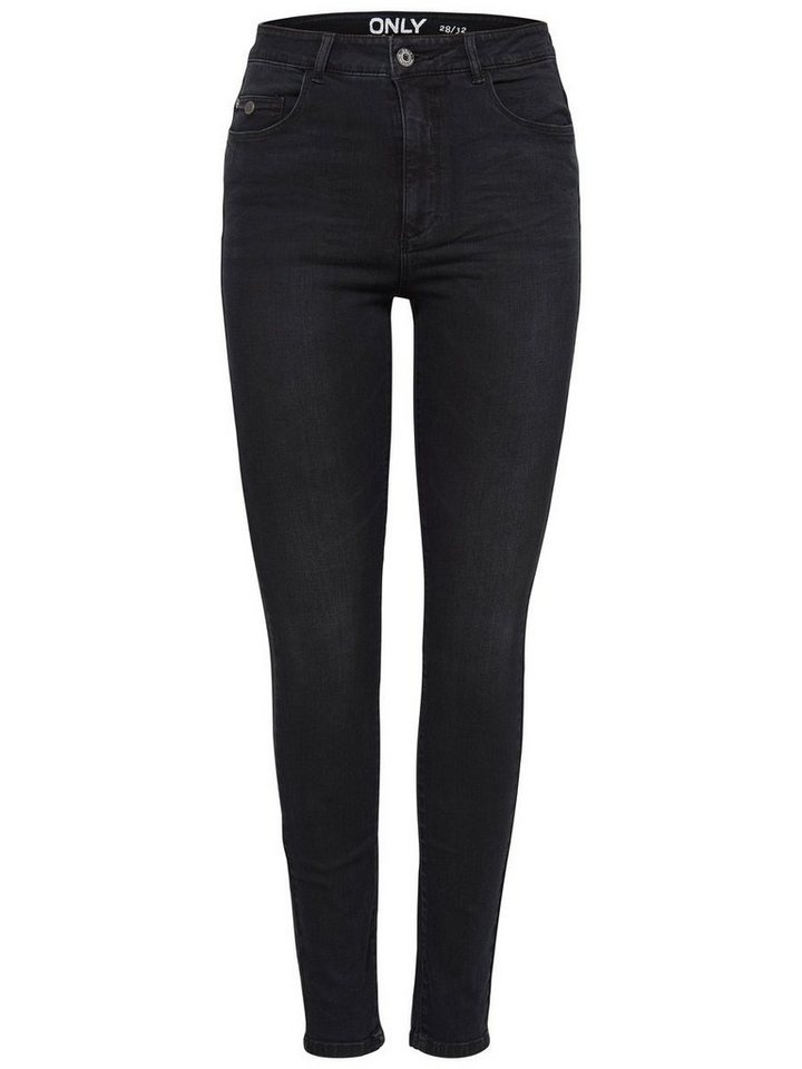 Only Piper High Waist Skinny Fit Jeans in Black