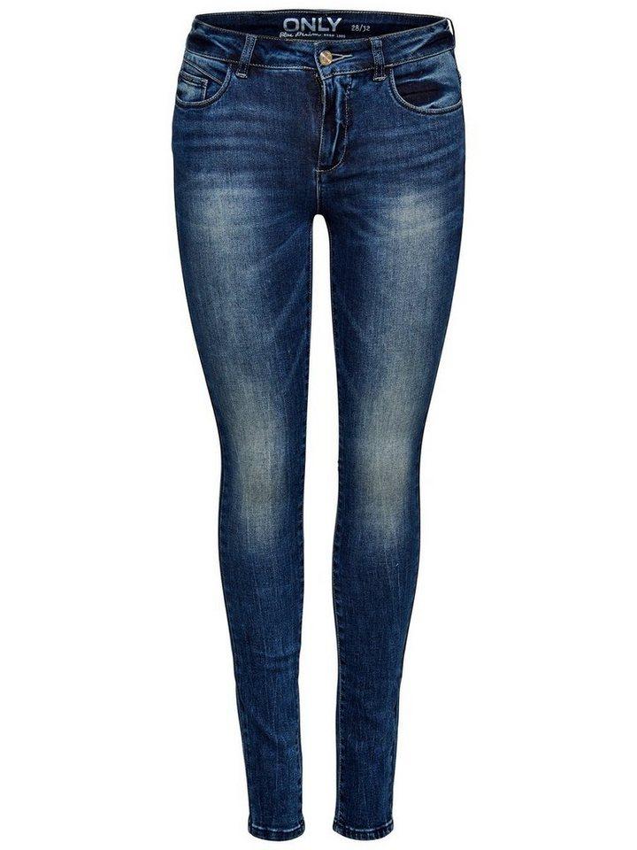 Only Carmen Reg Skinny Fit Jeans in Medium Blue Denim