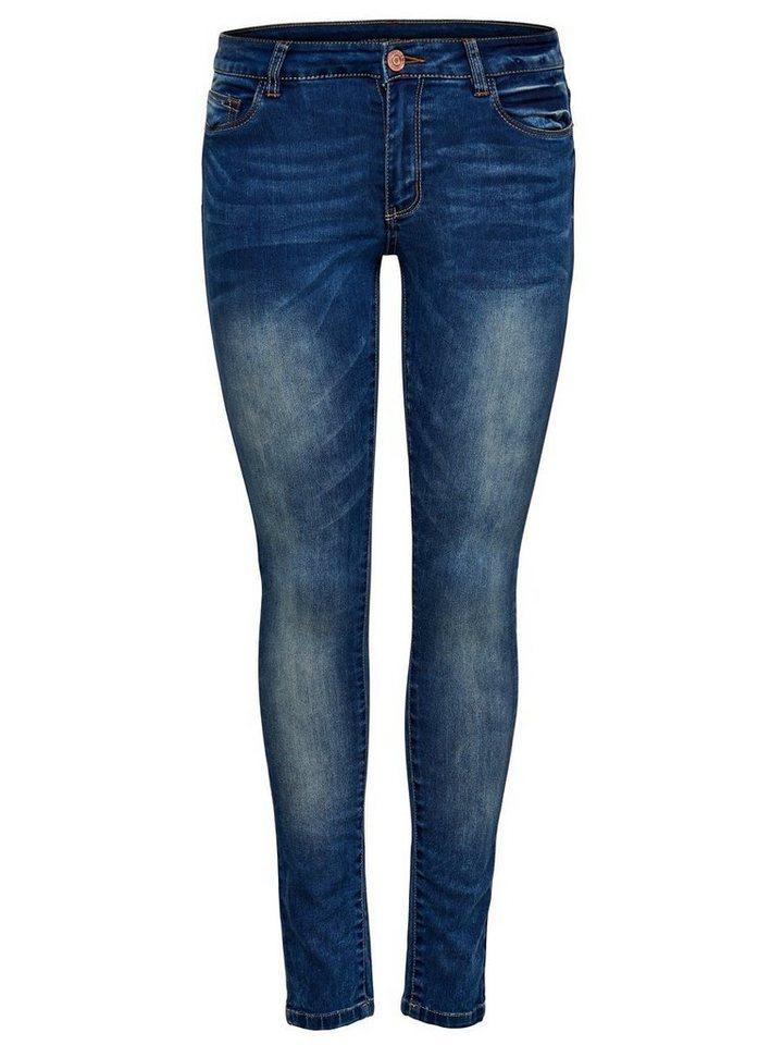 Only JDY Low Garcia Skinny Fit Jeans in Dark Blue Denim