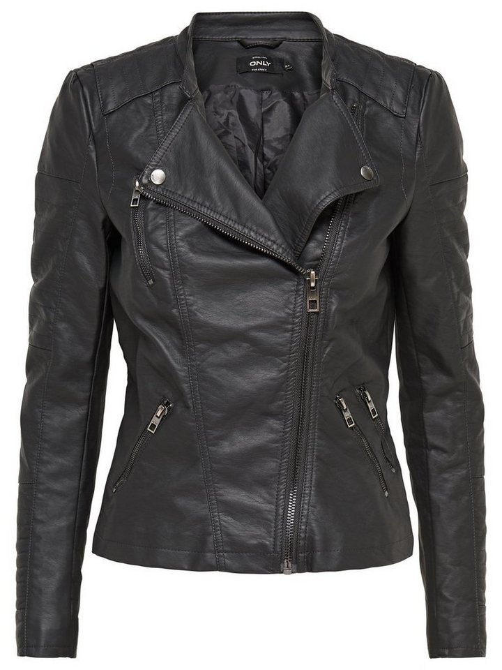 Only Faux leather Biker jackets in Phantom