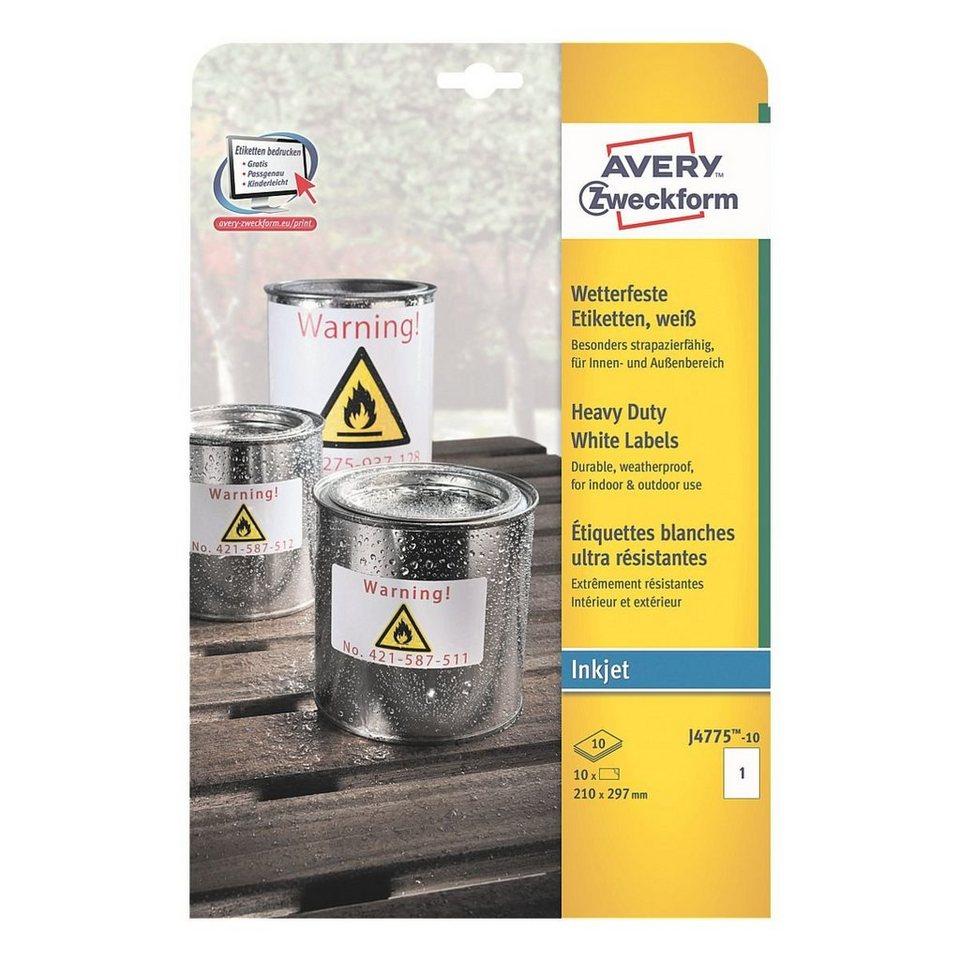 Avery zweckform wetterfeste etiketten kaufen otto for Avery etiketten
