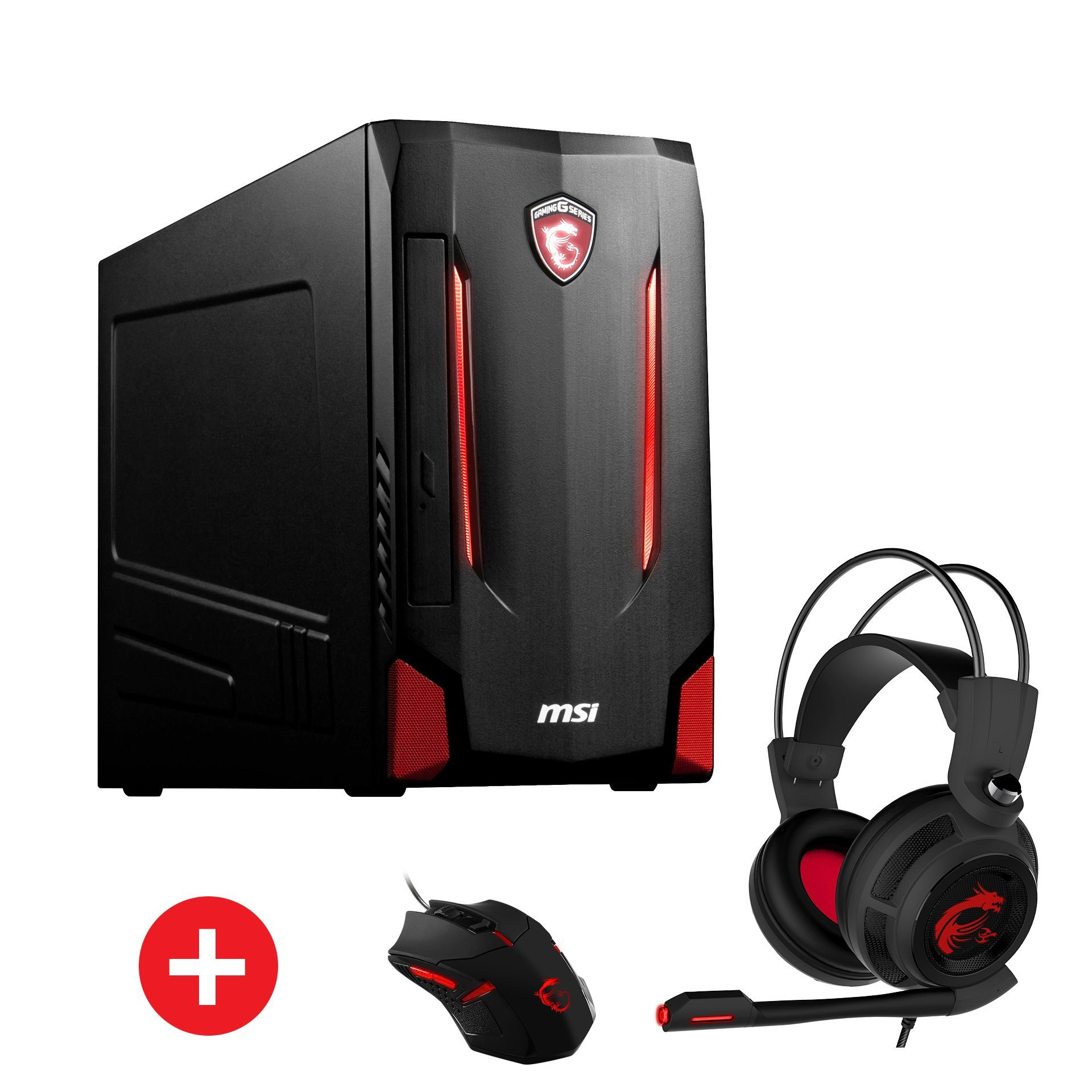 MSI Gaming PC, Intel® i7-6700, 8GB, 1TB, 128 SSD, GeForce® GTX 1070 »Nightblade MI2-209DE«
