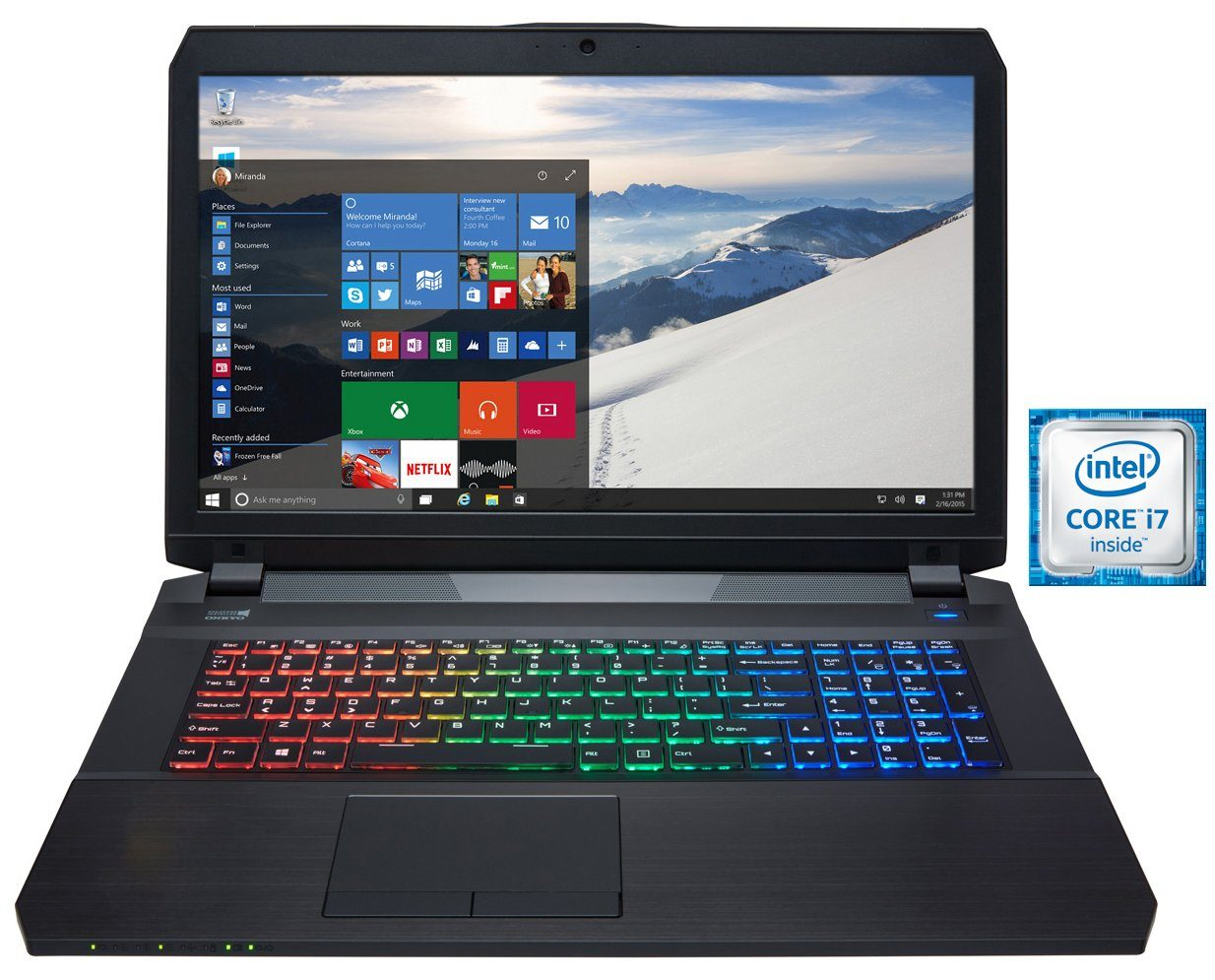 "Hyrican 17,3"", i7-6700HQ, 16GB, 240GB SSD + 1TB HDD, GTX 1070 »Striker 1548«"