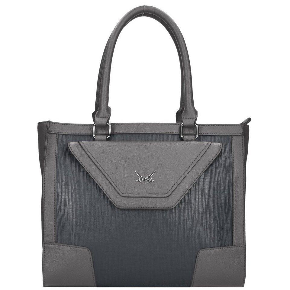 Sansibar Envelope Handtasche 32 cm in grey