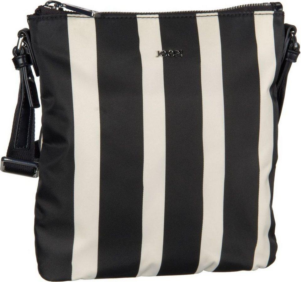 Joop Dia Nylon Stripe Shoulder Bag Small in Black