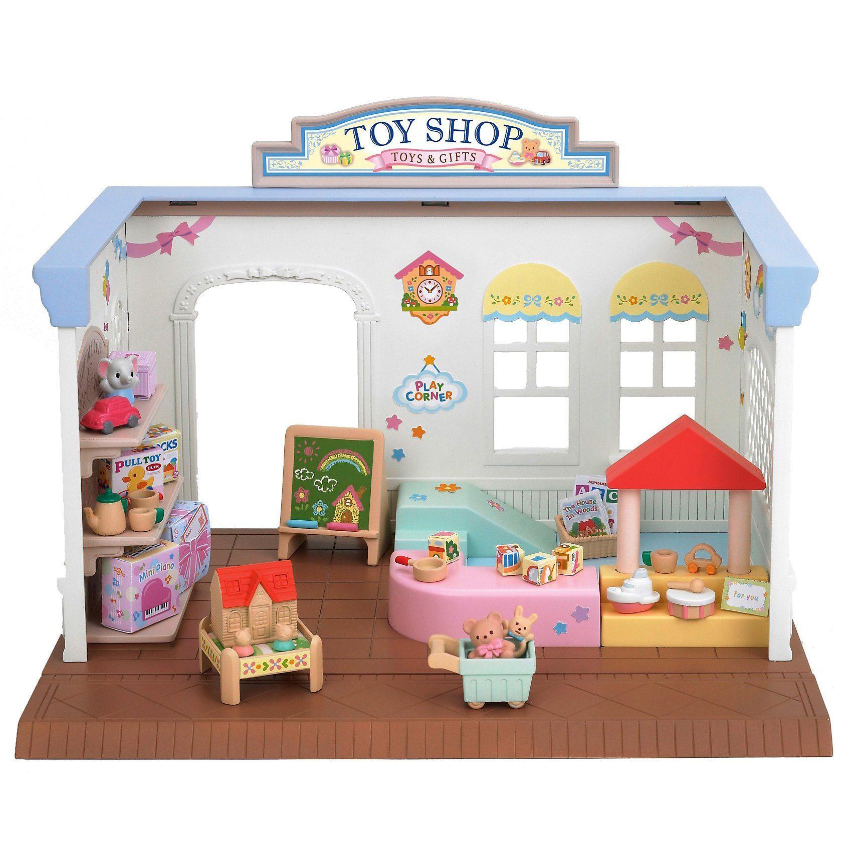 """Epoch Traumwiesen Sylvanian Families Spielzeugladen """"Abenteuerkiste"""" Puppenhau"""