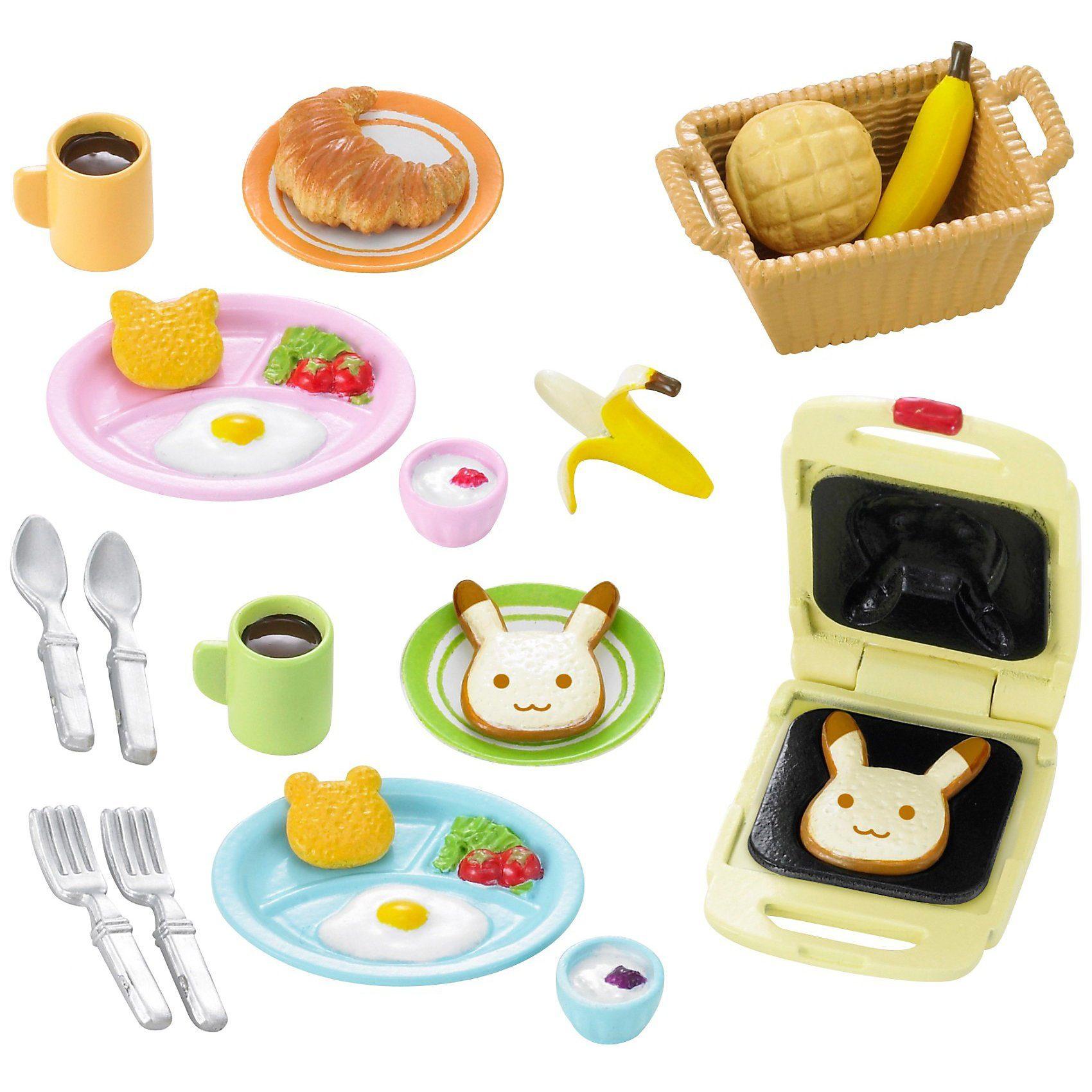 Epoch Traumwiesen Sylvanian Families Frühstücks-Set Puppenhauszubehör