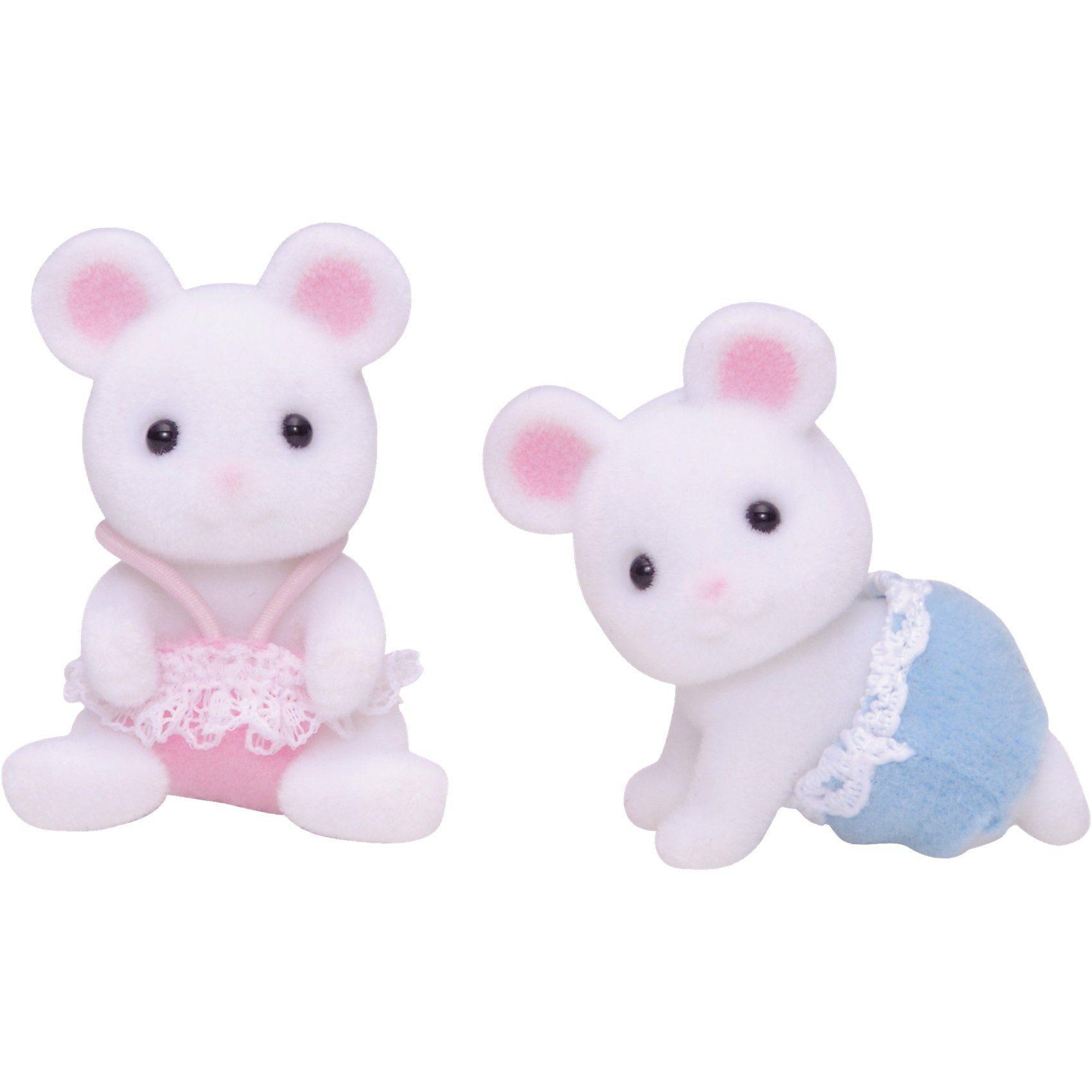 Epoch Traumwiesen Sylvanian Families Weiße Mäuse Zwillinge