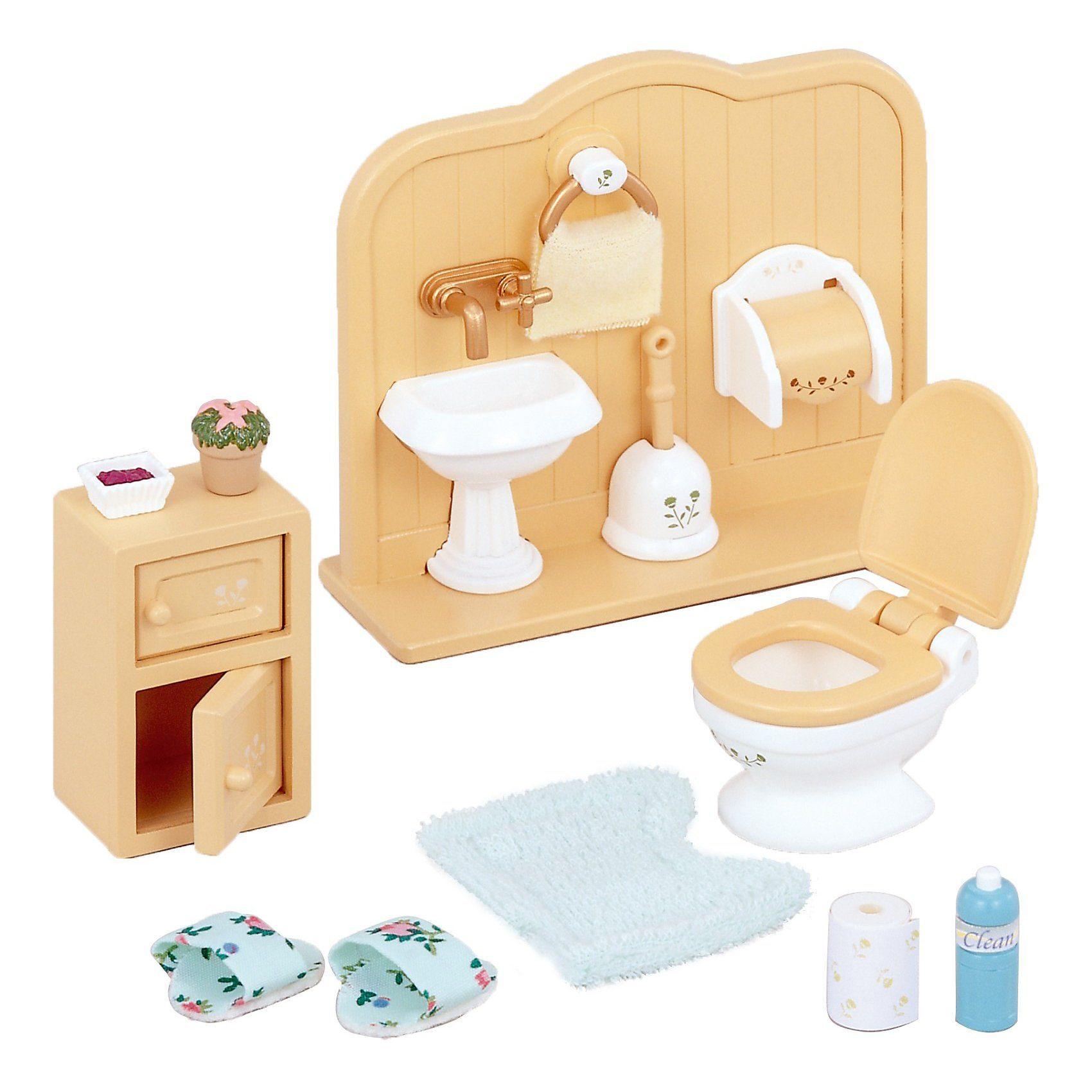 Epoch Traumwiesen Sylvanian Families Toiletten-Set Puppenhauszubehör