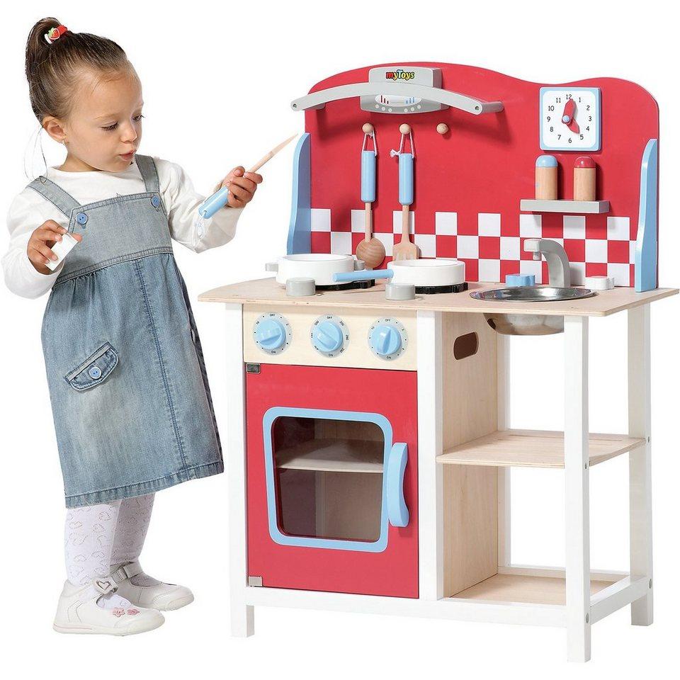 myToys Holzküche mit Zubehör