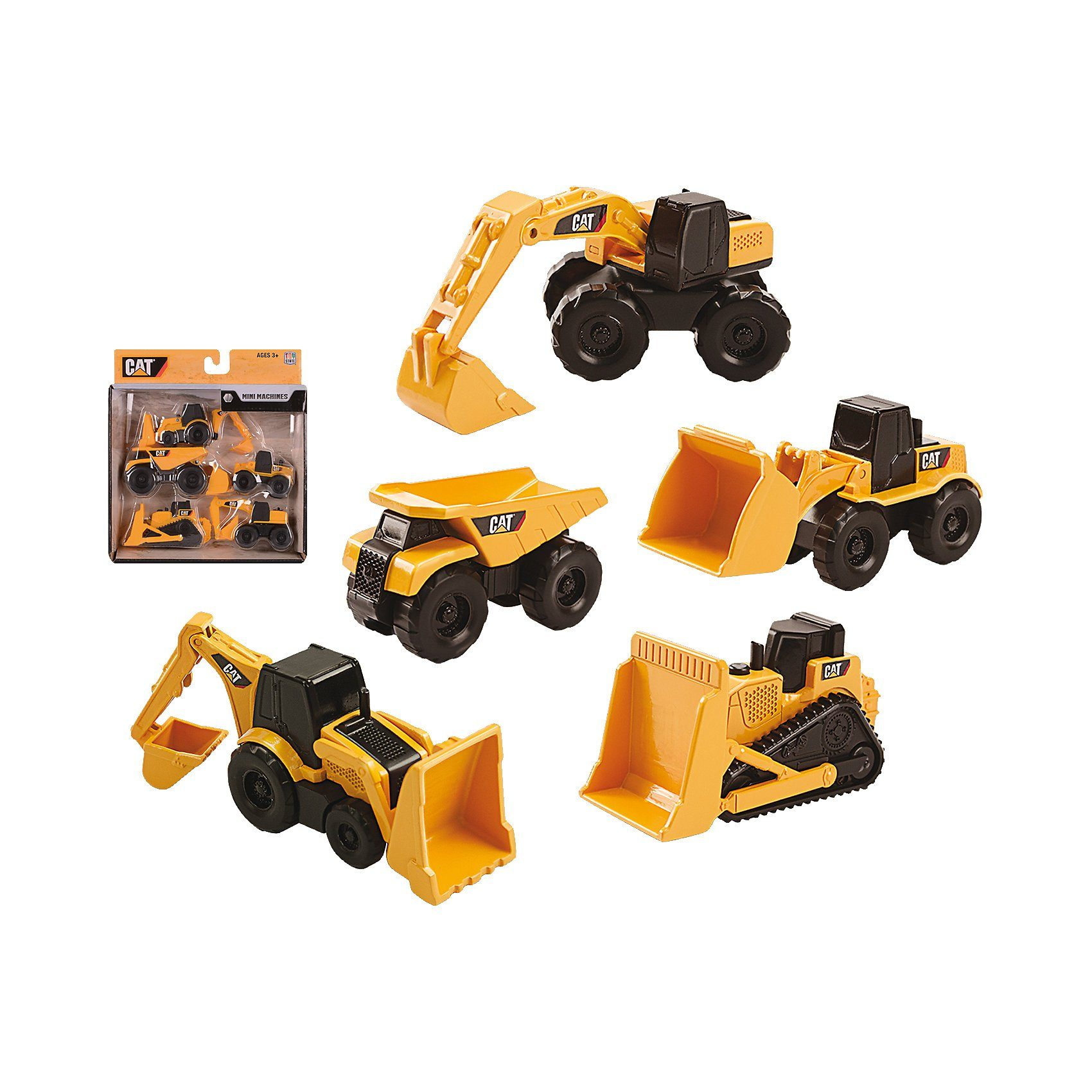 Toystate CAT Mini Machines,5-er Pack