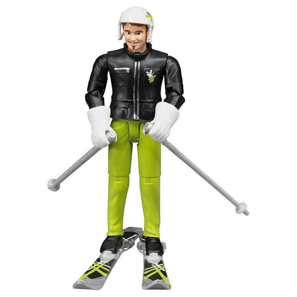 Bruder 60040 bworld Skifahrer mit Zubehör