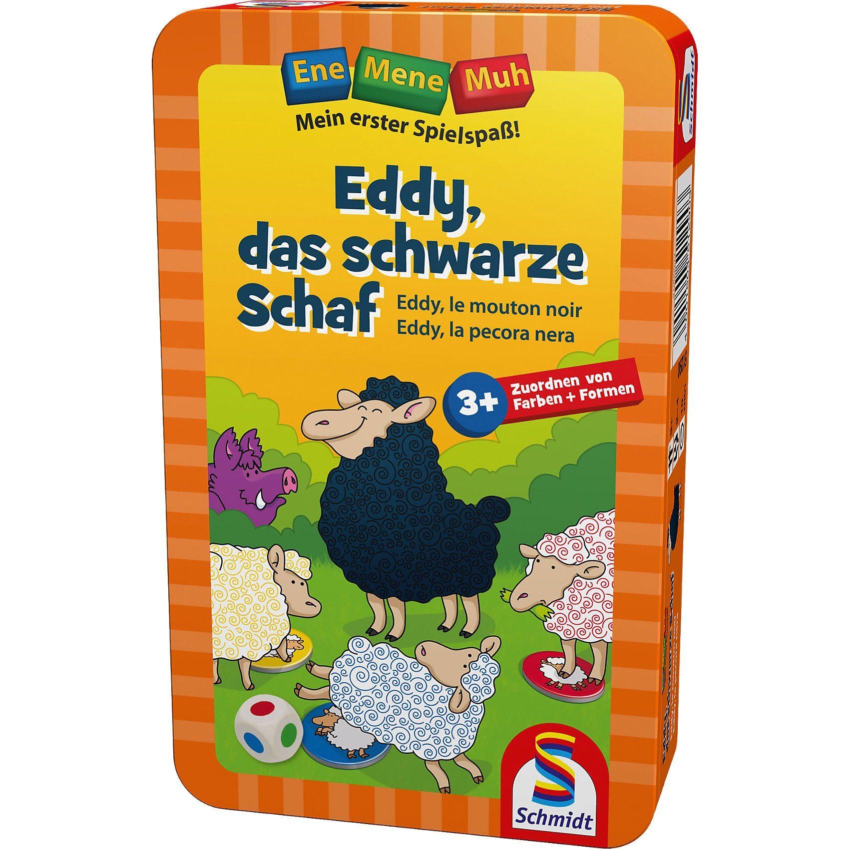 Schmidt Spiele Mitbringspiel Ene Mene Muh, Eddy, das schwarze Schaf