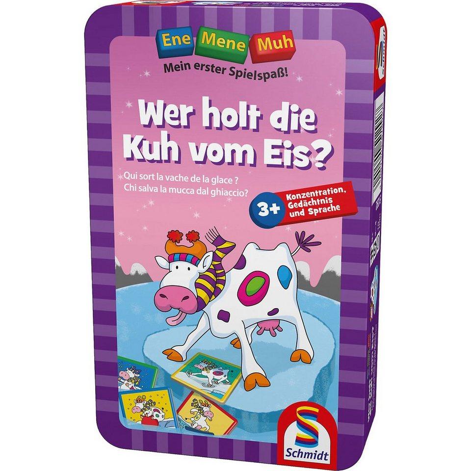 Schmidt Spiele Mitbringspiel Ene Mene Muh, Wer holt die Kuh vom Eis?