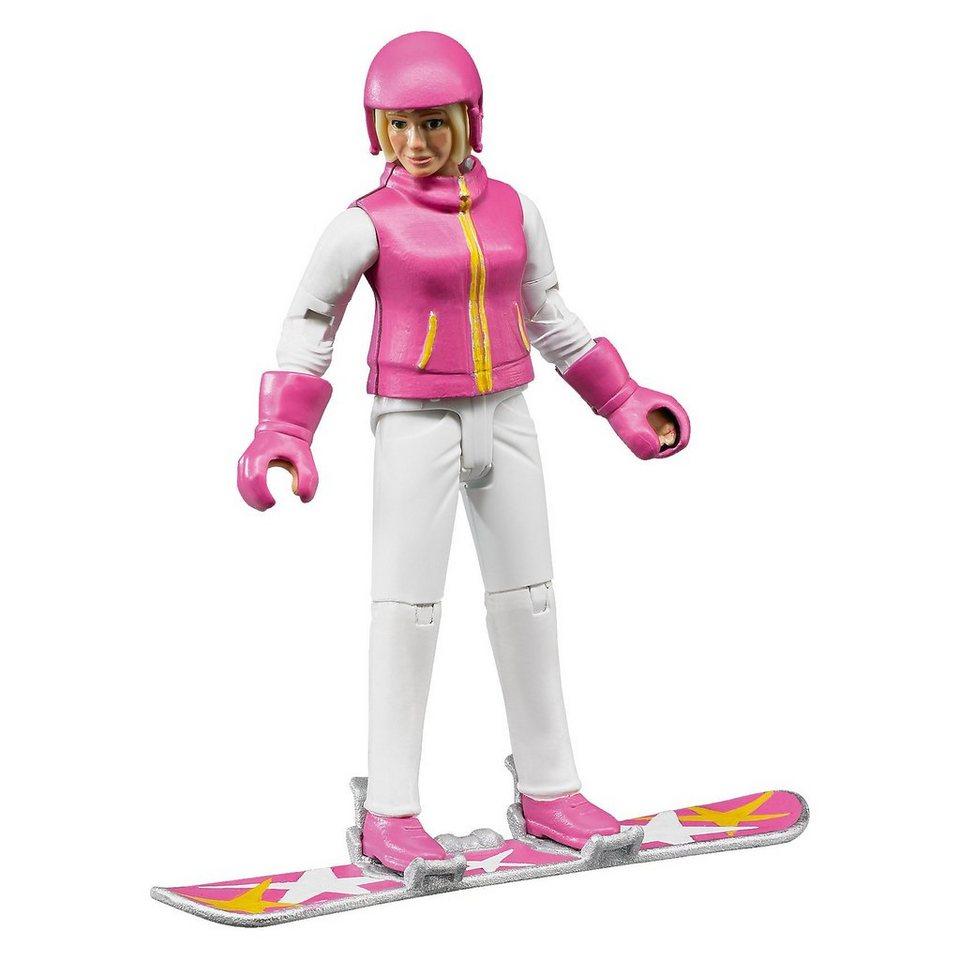 Bruder 60420 bworld Snowboardfahrerin mit Zubehör