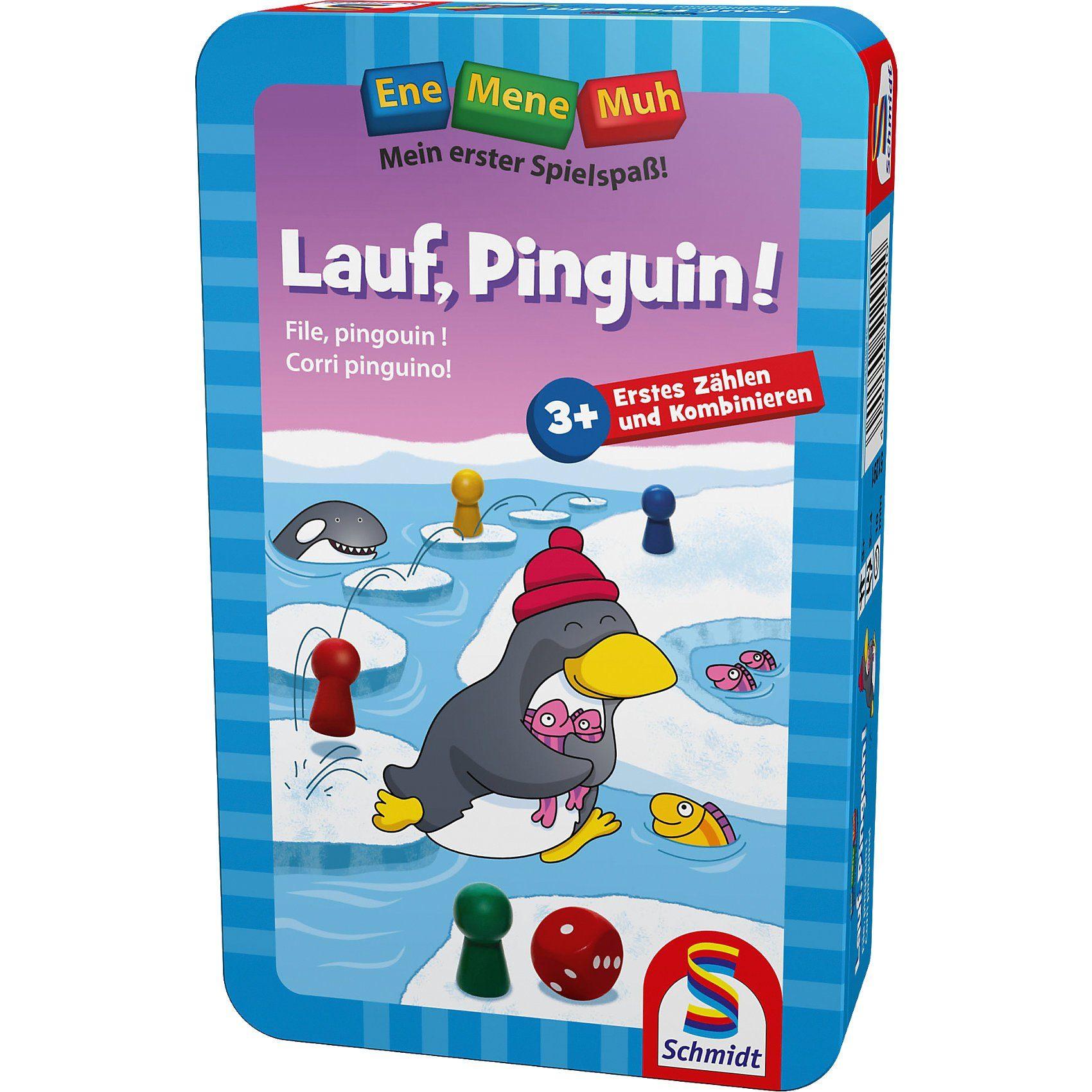 Schmidt Spiele Mitbringspiel Ene Mene Muh, Lauf, Pinguin!