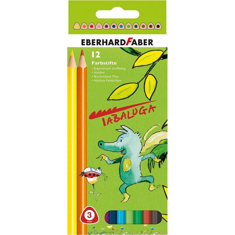 Eberhard Faber Buntstifte Tabaluga im Etui, dicke Mine, 12 Farben