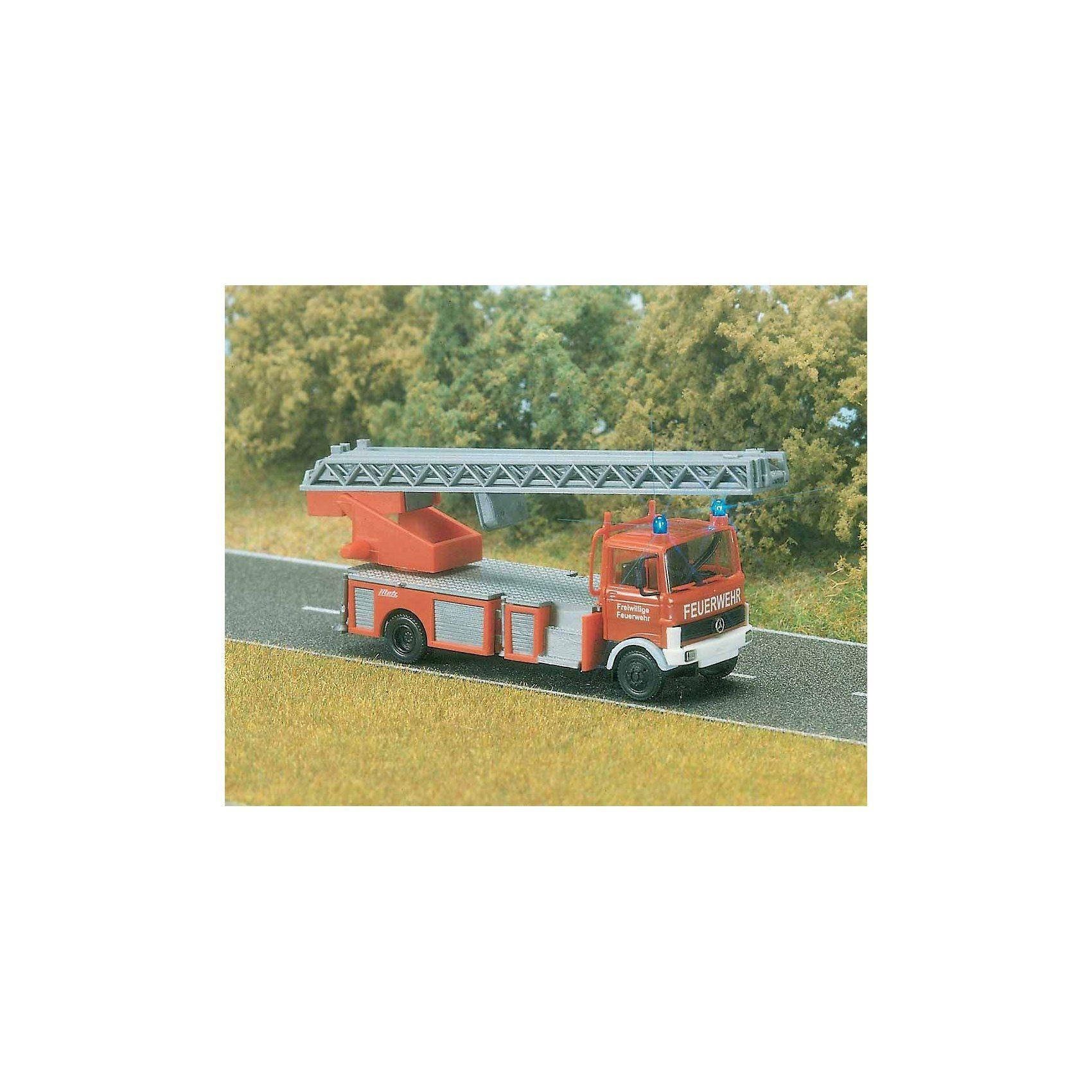 Busch Feuerwehr Leiterwagen H0