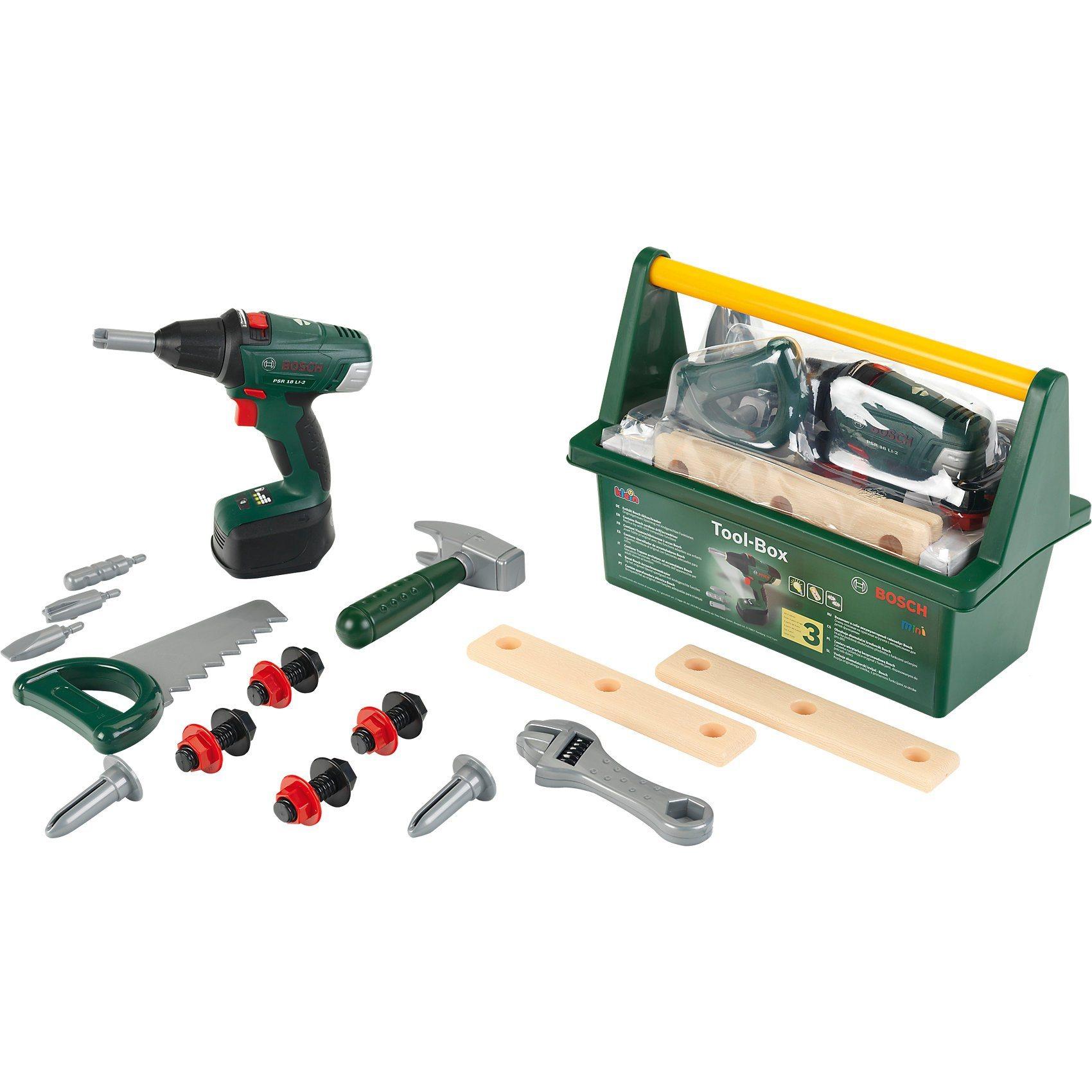 shopthewall | theo klein 8520 bosch tool box mit akkuschrauber