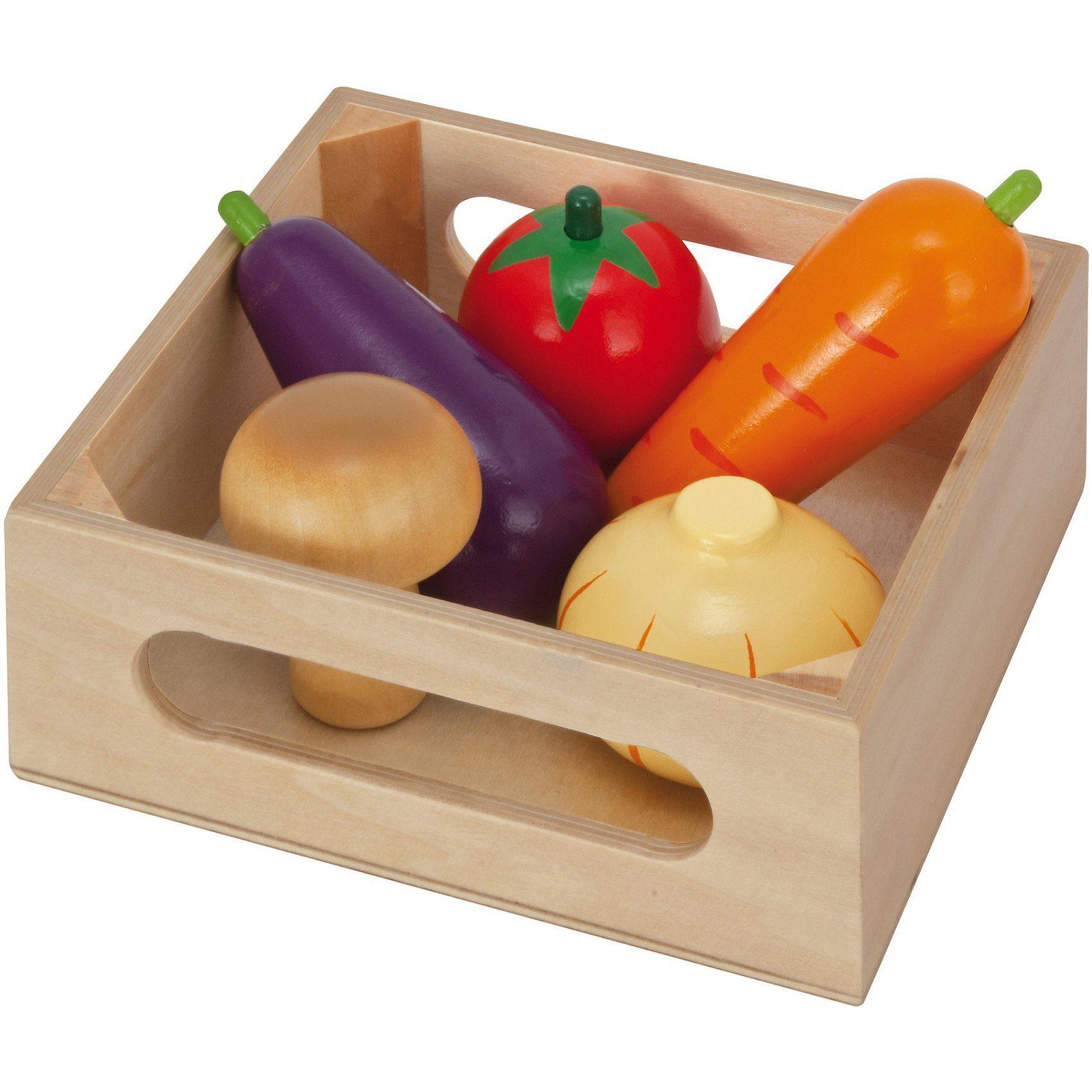 Eichhorn Spiellebensmittel Holzbox mit Gemüse