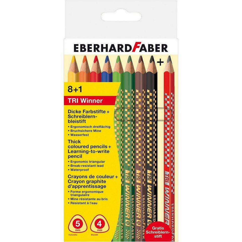 Eberhard Faber Buntstifte TRI Winner, 8 Farben+1 Schreiblernstift