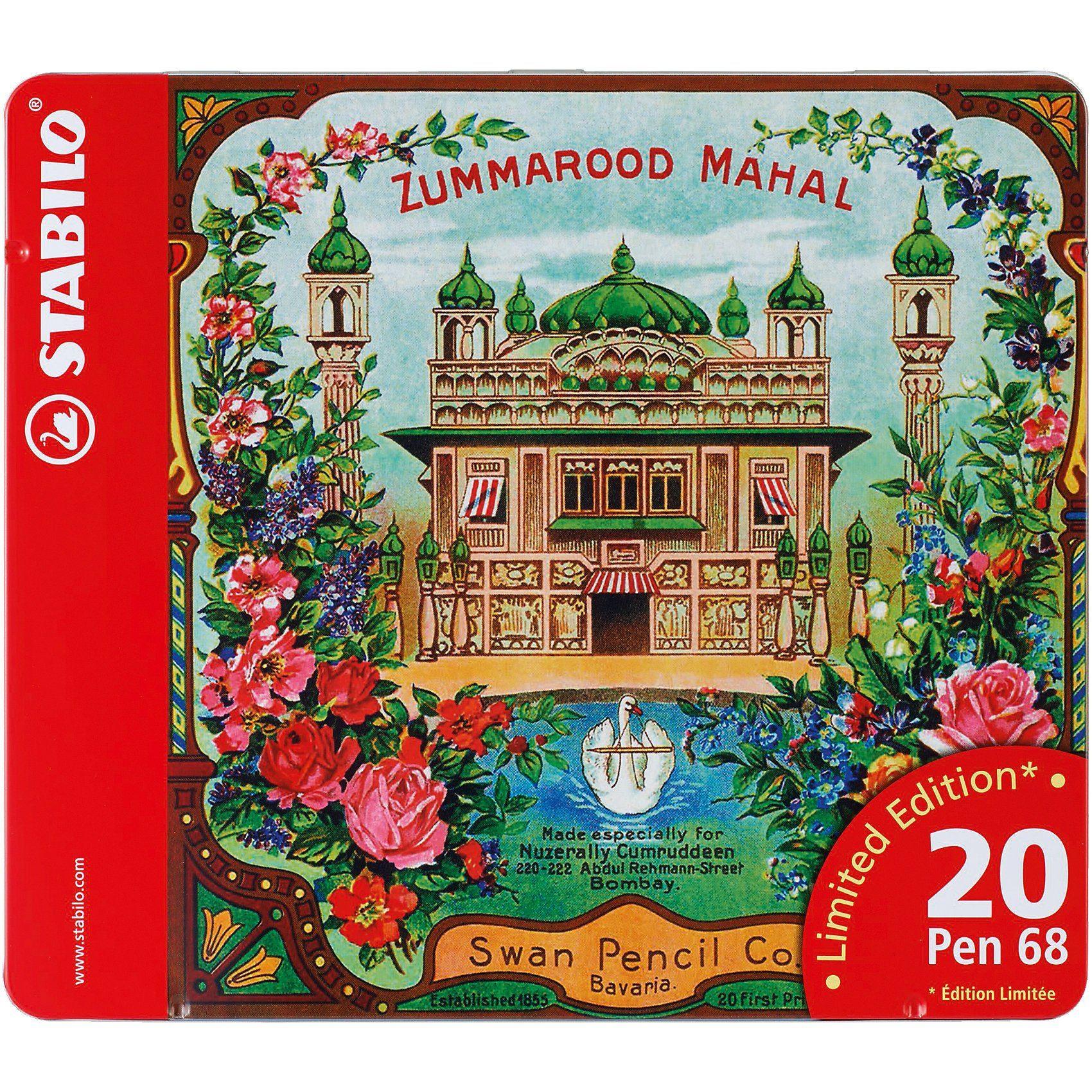 Stabilo Filzstifte Pen 68 Zummarood Mahal im Metalletui limited Edit