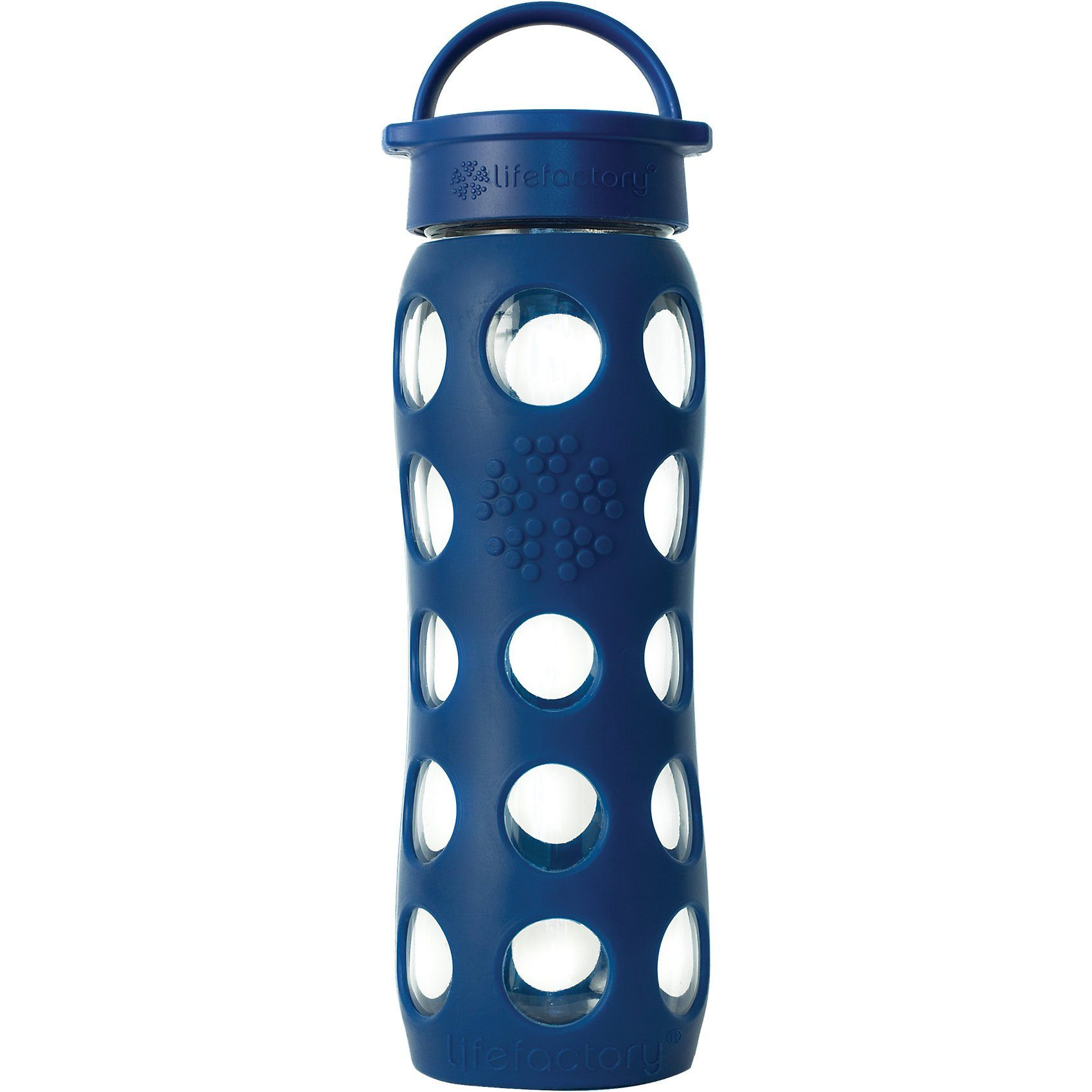 Lifefactory Trinkflasche Glas midnight blue, 650 ml