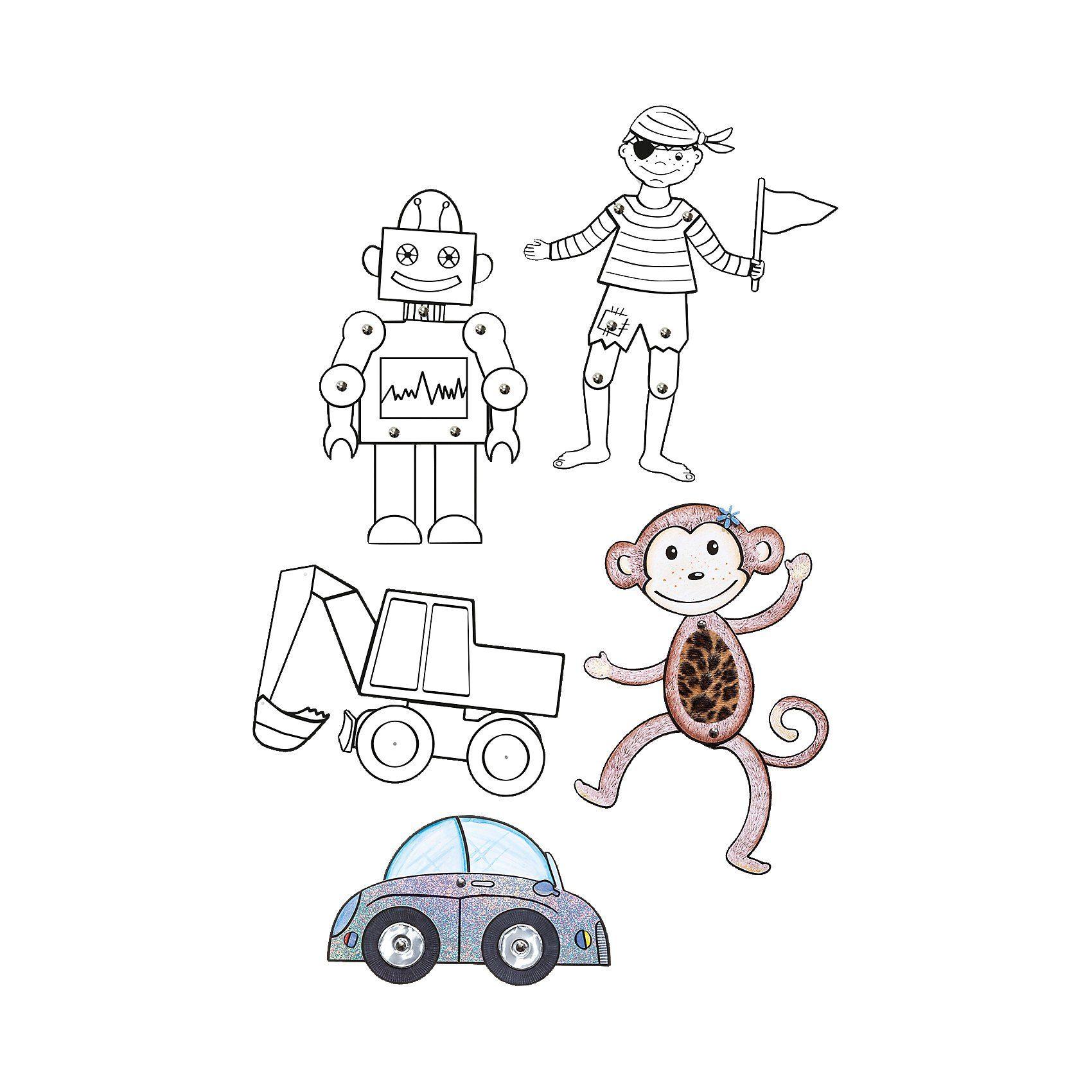 Folia Gelenkfiguren Abenteuerland, 5 Stück