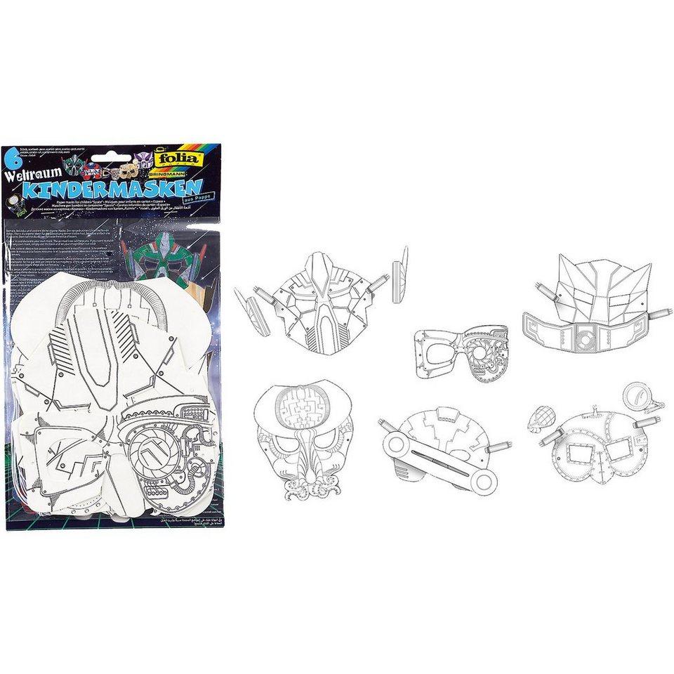 Folia Kindermasken Weltraum, 6 Stück