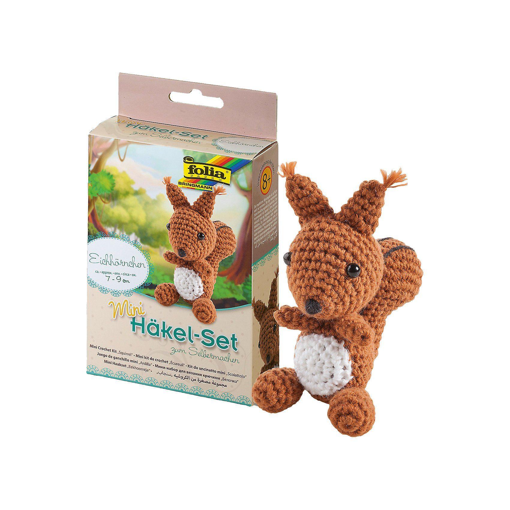 Folia Mini-Häkelset Eichhörnchen