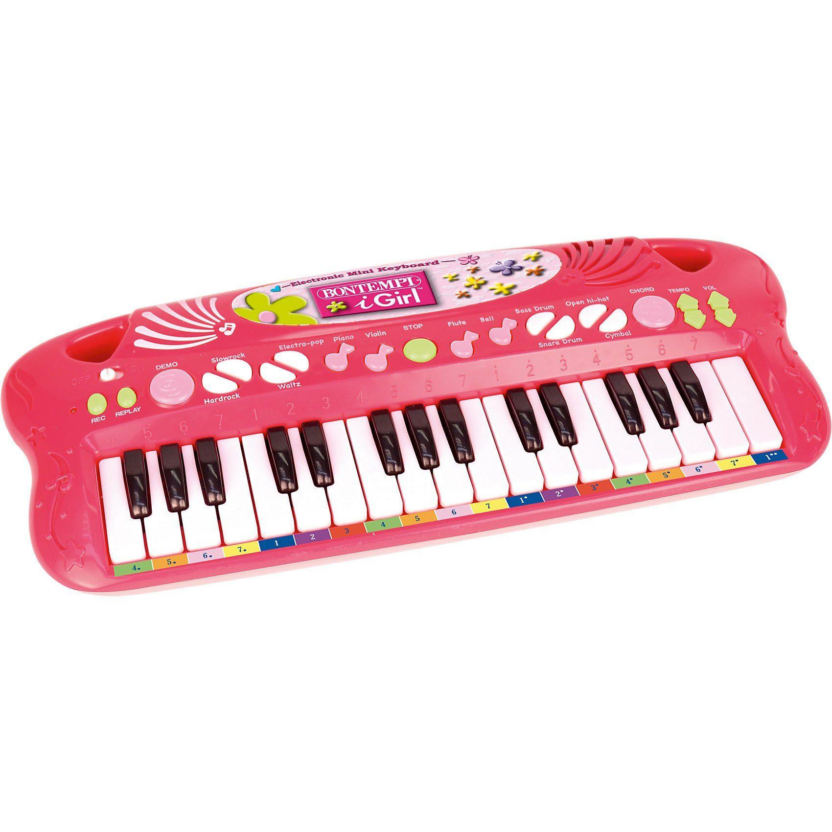 Bontempi Elektronik- Keyboard mit 32 Tasten, pink