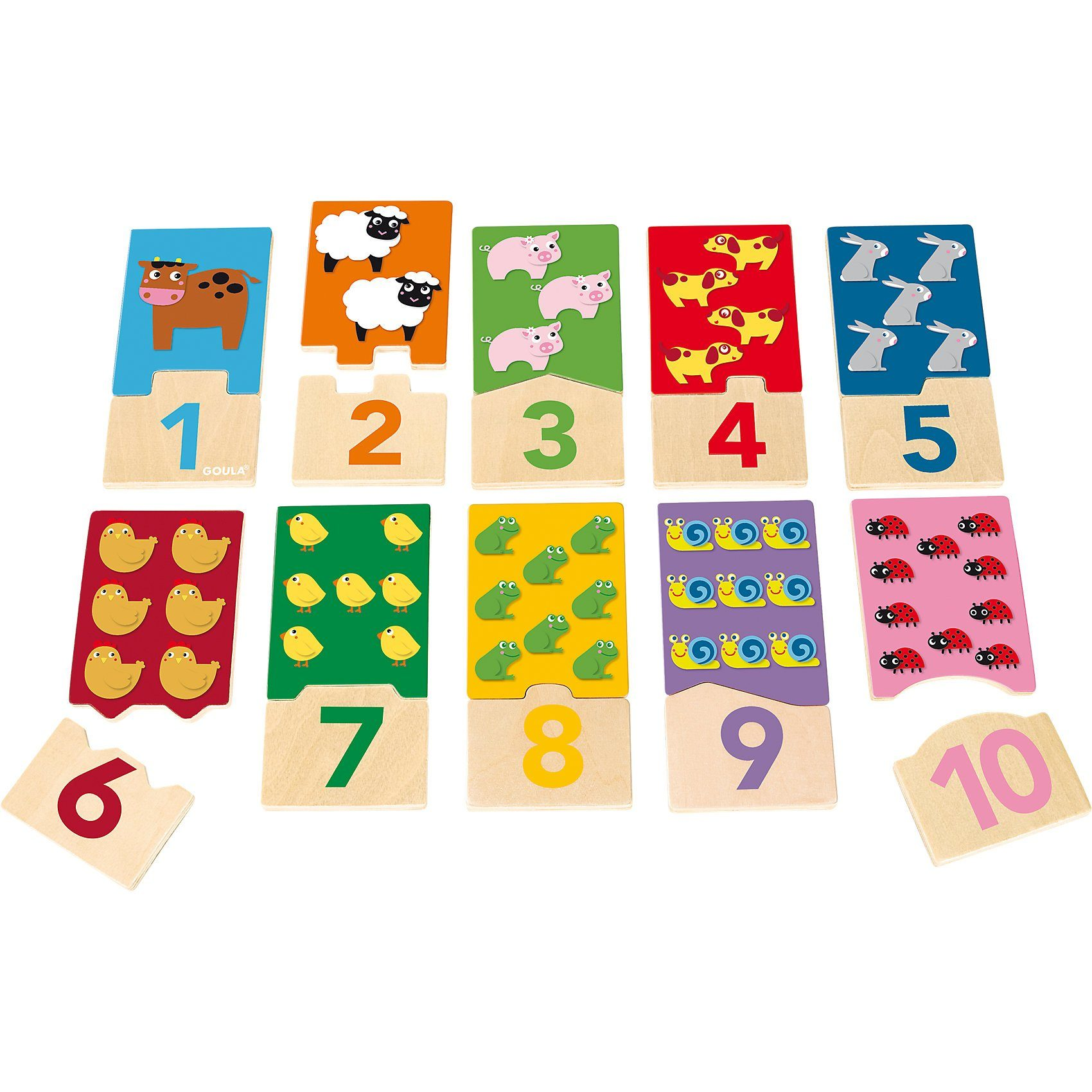 Goula - Zahlen Puzzle 1-10