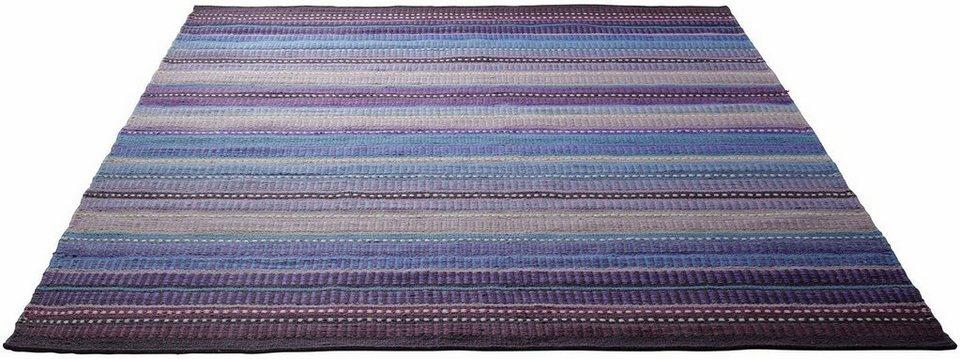 Teppich, Esprit, »Nomad«, handgewebt, Wolle in lila