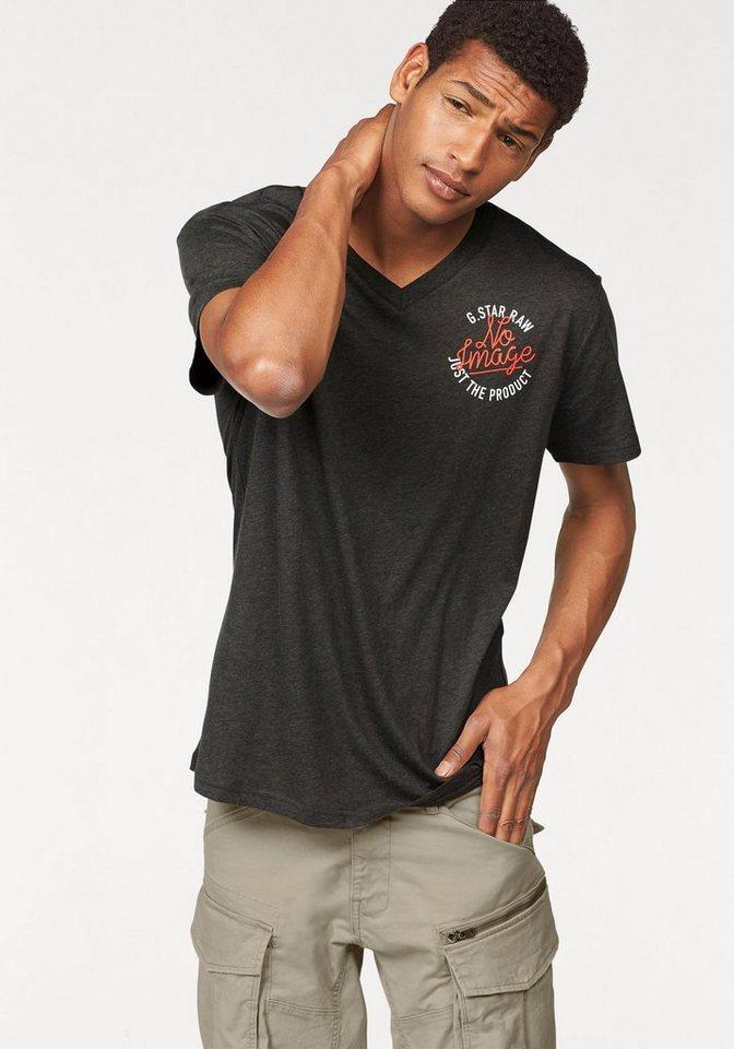 G-Star T-Shirt mit Brustprint in anthrazit