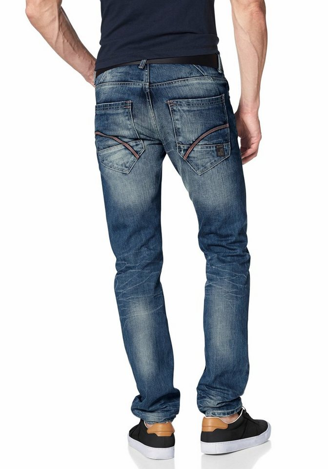Blend Slim-fit-Jeans in blue-used