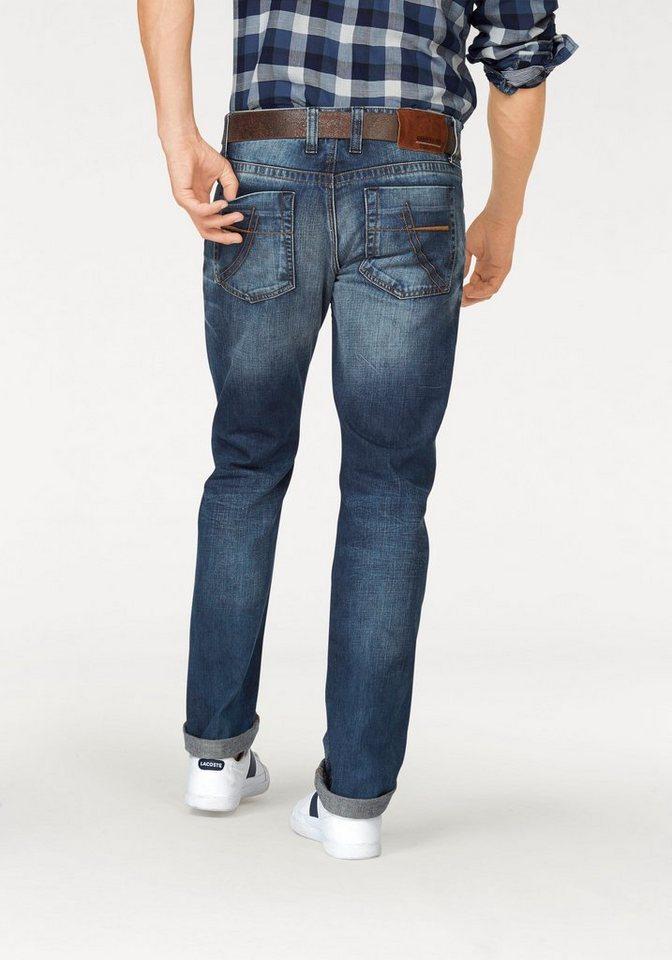 CAMP DAVID 5-Pocket-Jeans in stone-used